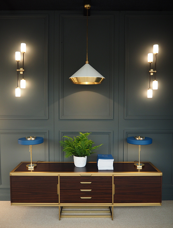 Bert Frank furniture collection at Decorex 2016-bespoke furniture by Decca London-mid century inspired credenza