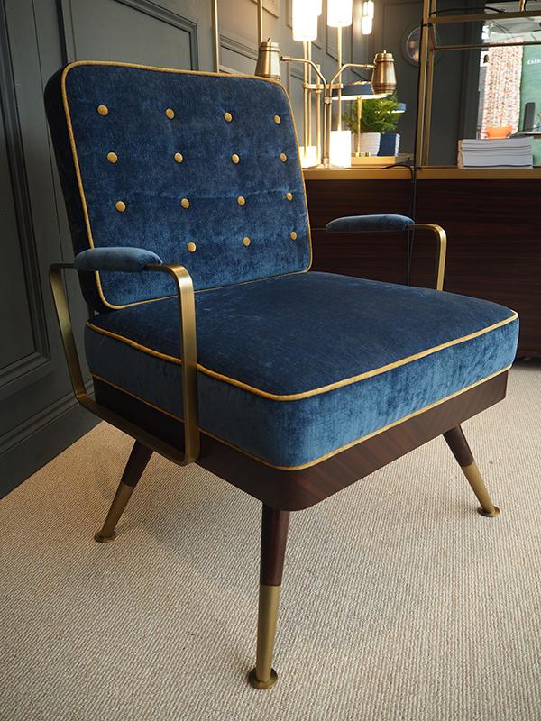 Bert Frank furniture collection at Decorex 2016-mid century armchair-bespoke furniture made by Decca London
