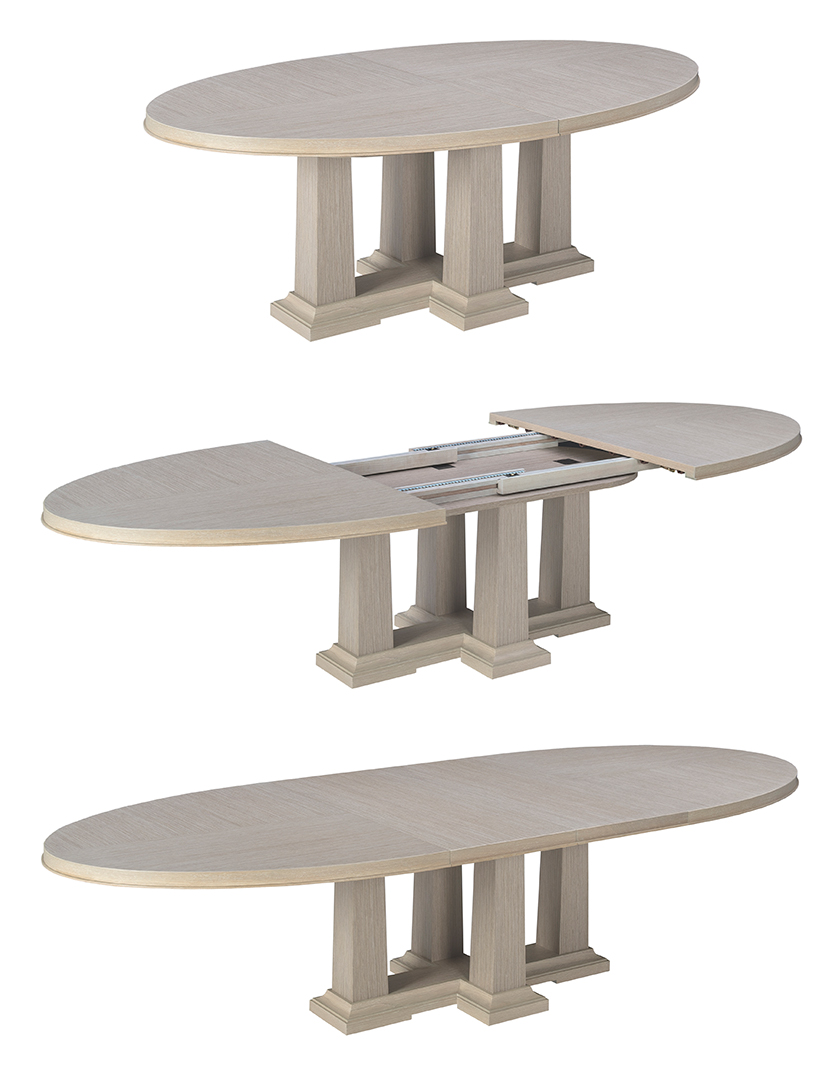65016-0612 Dining table Modern Desert Domicile collection by Michael Vanderbyl for Bolier-High Point Market 2016