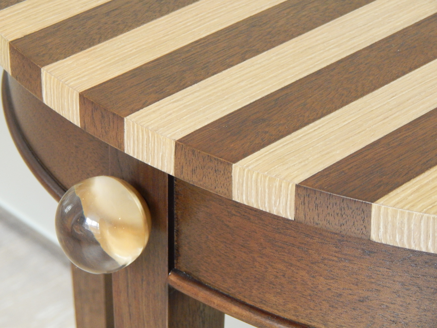Bespoke by Decca // Detail of the bespoke side table designed by Peter Hunter for Decca London
