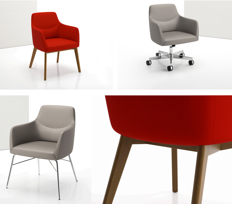 Decca Contract by Deca - Decca London - Bing collection - luxury lounge seating - colourful lounge seating - Bing Guest Chair