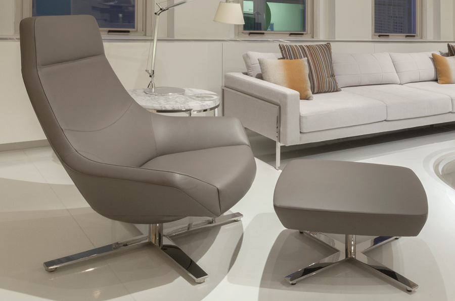 Decca Contract by Deca - Decca London - Bing collection - luxury lounge seating - colourful lounge seating - Bing Lounge Chair with ottoman - executive office chair