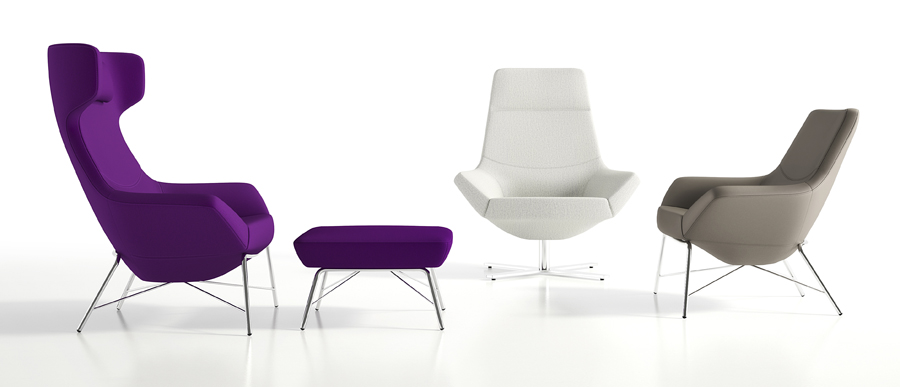Decca Contract by Deca - Decca London - Bing collection - luxury lounge seating - colourful lounge seating