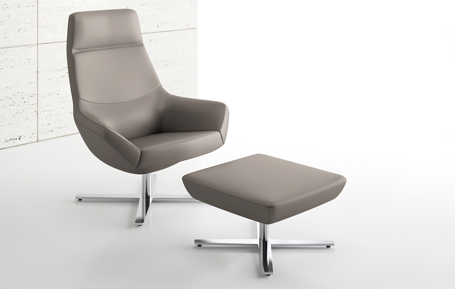 Decca Contract by Decca // Decca London // Bing Collection designed by 5d studio for Decca // Luxury lounge seating available in a variety of back styles and base options.