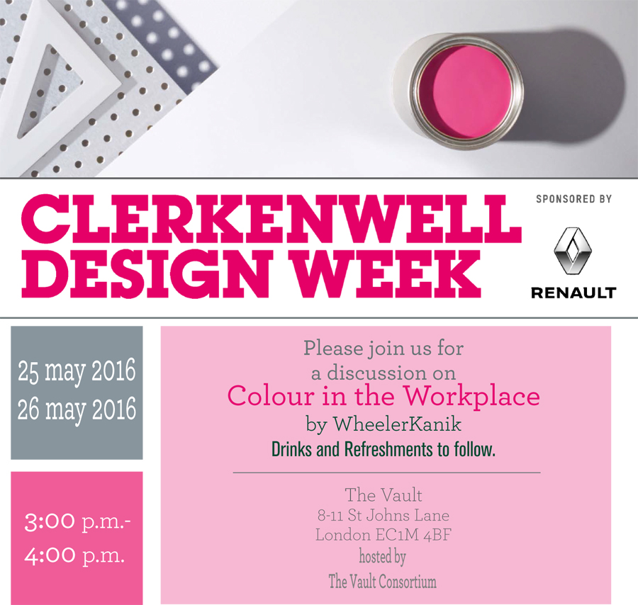 Colour in the office // Event at The Vault this CDW 2016