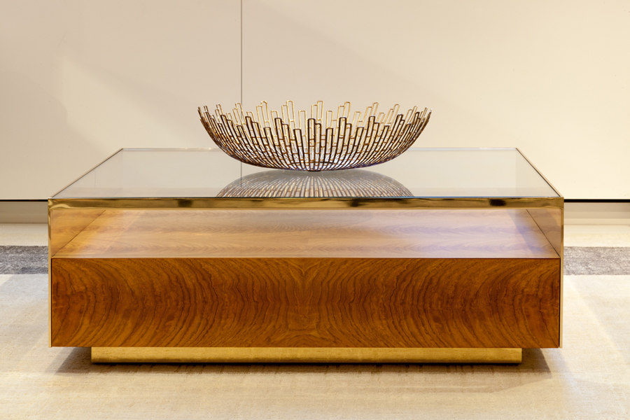 Decca Contract // Decca London // Museum Coffee Table // Veneer Layup Detail // Luxury Office Furniture