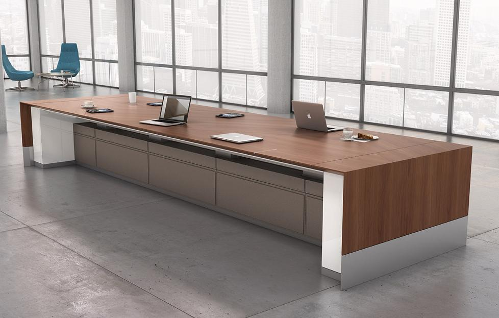 Decca Contract // Decca London // Motile Conference height adjustable table //Luxury office furniture