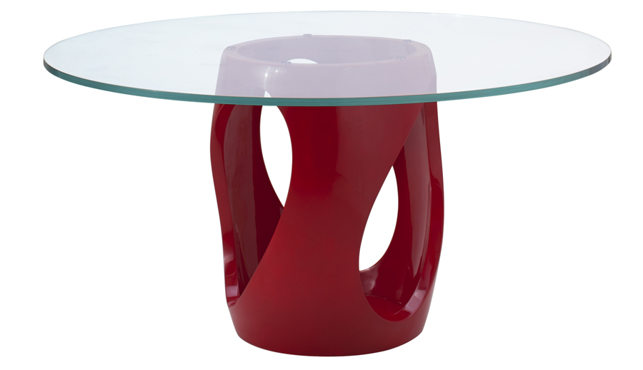 Decca London // Signet Collection by Dakota Jackson // Signet Dining Table in Chinese Red Lacquer Finish // Modern Interiors