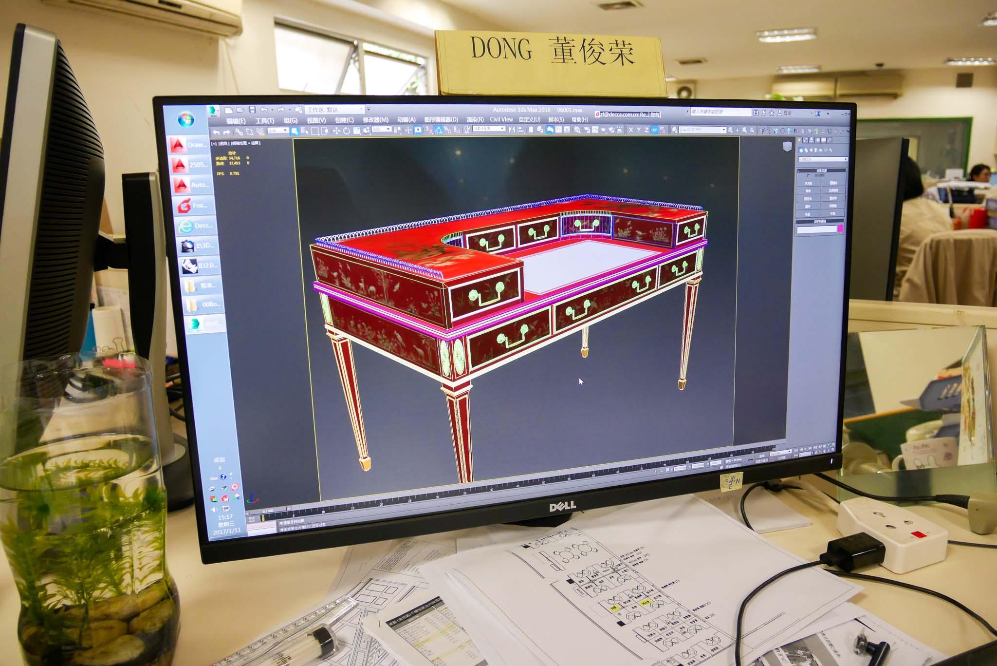 Decca Furniture CAD & 3D Department